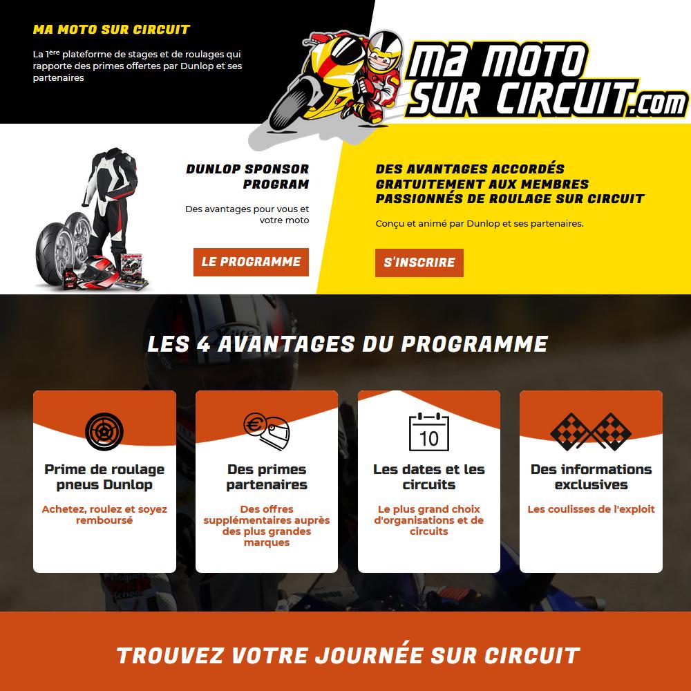 Programme ma moto sur circuit