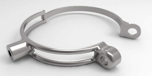 Support en métal de capteur de fourche. Diamètre 54mm.